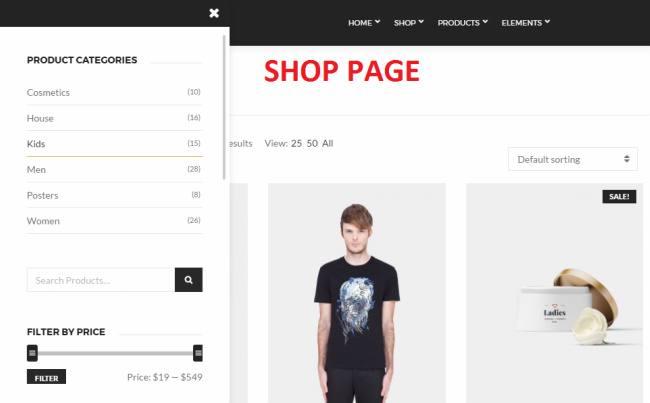 Shop Page - Neto CSSIgniter