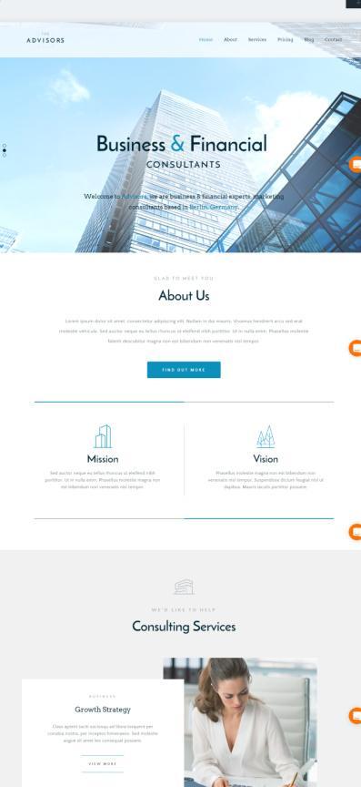 The Advisors - Themefuse The Core Review - Business WordPress Theme