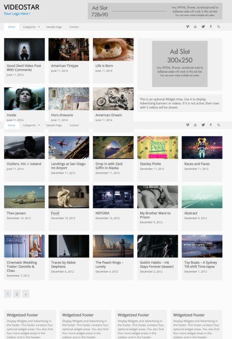 VideoStar Demo : RichWP Video WordPress Theme for Bloggers