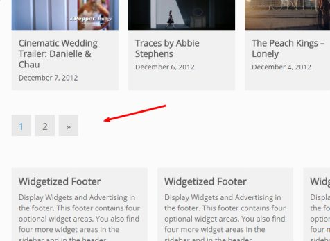 VideoStar - Pagination and Footer Widgets