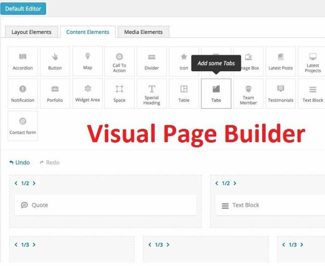Visual Page Builder - Advisors Business Theme