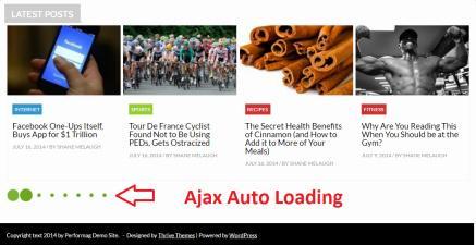 Ajax Auto Loading - Performag Theme