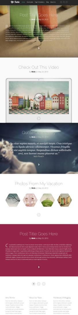 Fable Demo Preview - Elegant Themes WordPress Blogging Theme