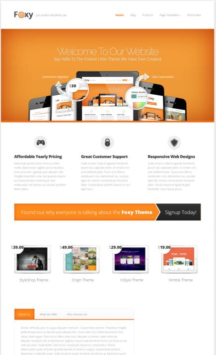 Wordpress Products Themes