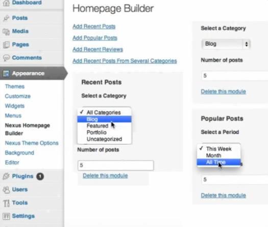 Homepage Builder - Nexus