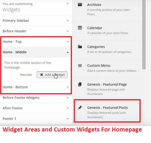 Homepage Widgetized Sections - Daily Dish Pro