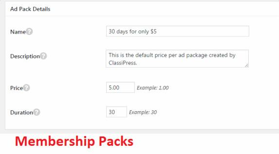 Membership Packs - ClassiPress AppThemes