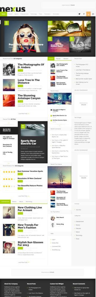Nexus Elegant Themes Review : Best Magazine WordPress Theme