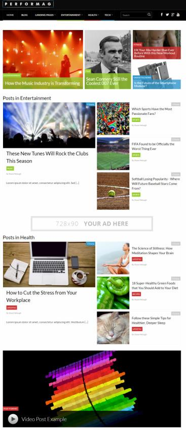 Performag Magazine/News WordPress Theme : Thrive Themes