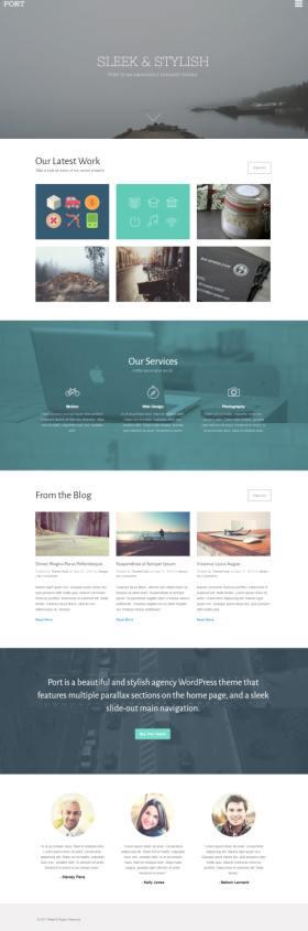 Port Theme Trust - WordPress Portfolio Business Theme