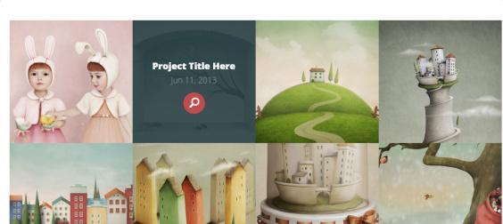 Portfolio Project Grid section - Vertex Homepage