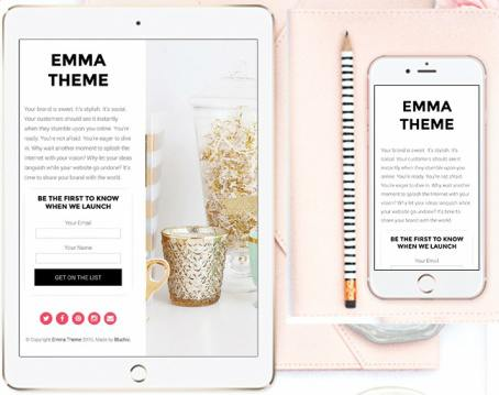 Responsive Preview - Landing page template