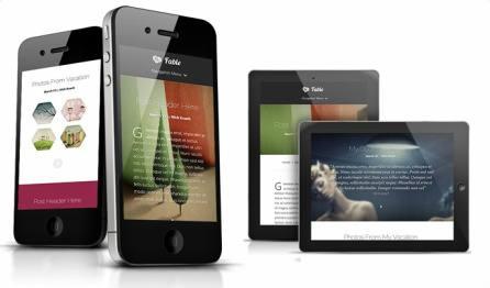 Responsive blogging theme - Fable