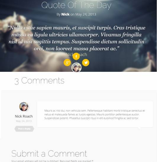Single Post Preview - Fable Blog Theme