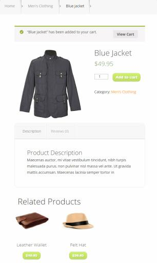 Single Product Listing - StyleShop Demo Preview