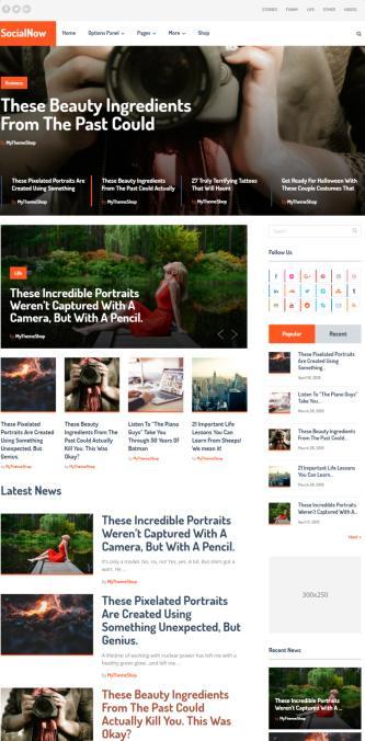 SocialNow MyThemeShop - Magazine Blog WordPress Theme