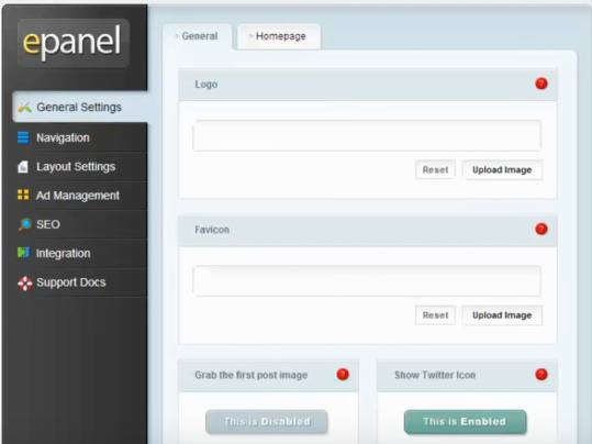 ePanel - Fable Theme Options Panel