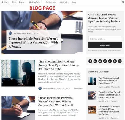 Blog Page - Writer MyThemeShop