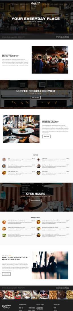 Carbone CSSIgniter - WordPress theme Cafe, Bard and Restaurants