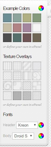 Chameleon Colors - Textures Overlays and Font options
