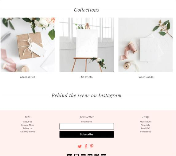 Featured Collections - Adrianna Frontpage
