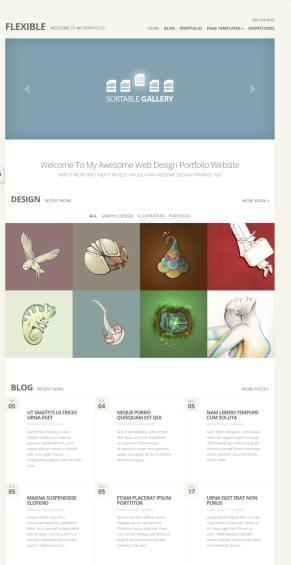 Flexible Demo : Elegant Themes REVIEW – Photo Gallery Theme