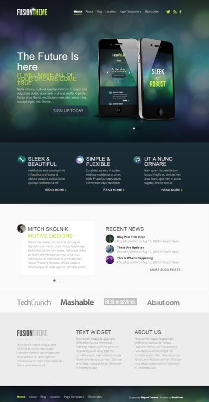 Fusion Elegant Themes Demo - Responsive Business Theme