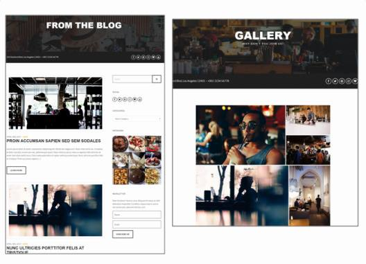 Gallery and Blog Page - Carbone CSSIgniter