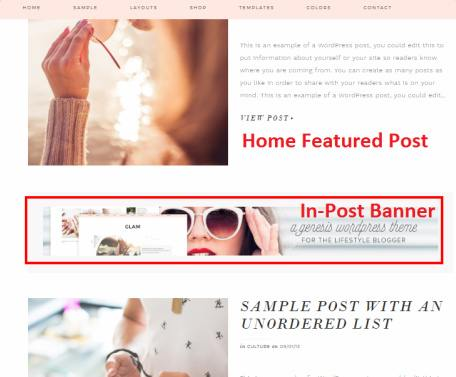 Glam Pro - Home Featuerd Post and Banner