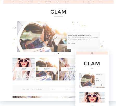 Glam Pro Preview - Feminine Theme by Restored 316 Designs