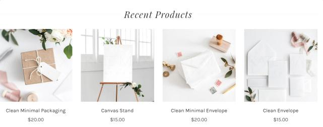 Recent Products - Adrianna