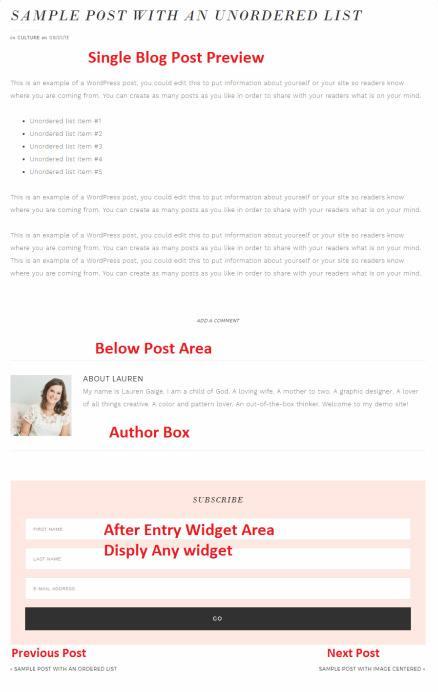 Single Post Preview - Glam Pro feminine blog theme