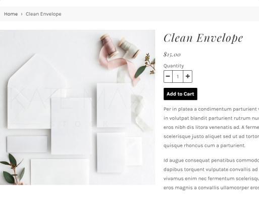 eCommerce Product Listing Post - Adrianna