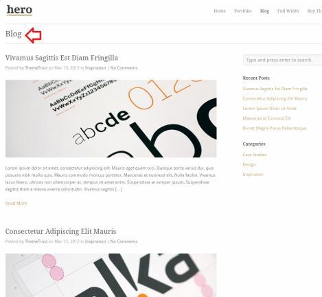 Blog Page - Hero Theme