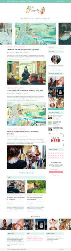 Mythemeshop Feminine : WordPress Chic Blogging Theme