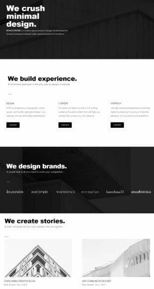 Frontpage Widgets - Monochrome Pro