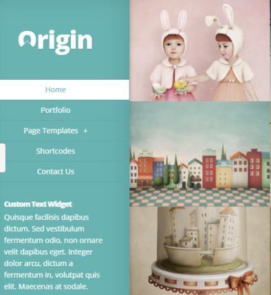 Header Left Panel - Origin WordPress Theme