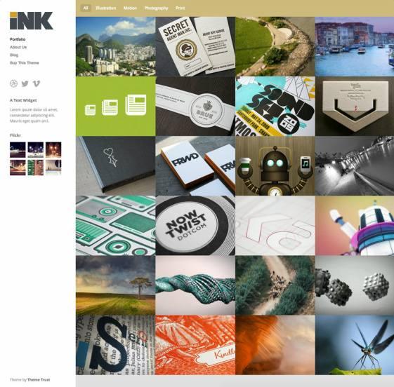 Ink ThemeTrust : Responsive Portfolio WordPress Theme