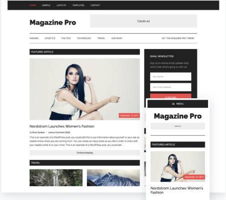 Magazine Pro - Responsive Genesis Blogging Theme