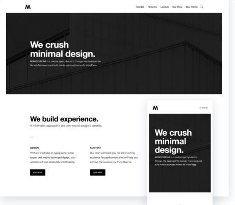 Studiopress Monochrome Pro : Genesis Business WordPress Theme