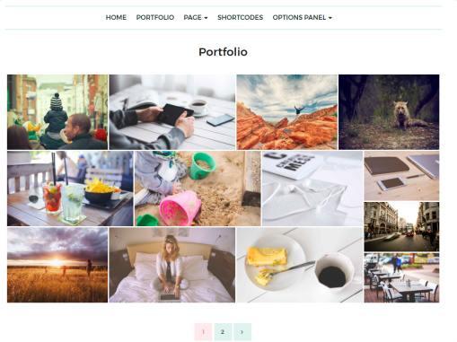 Portfolio Page - Feminine Mythemeshop