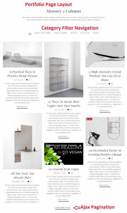 Portfolio Page Layout Options - Slush Zigzagpress