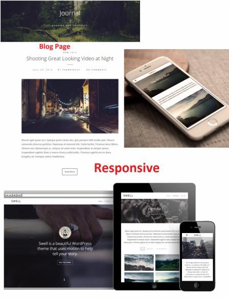 Responsive Portfolio Theme - Swell