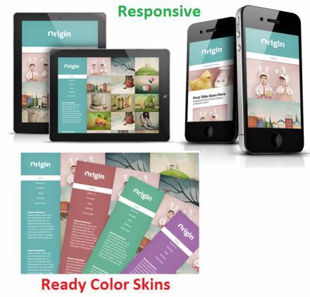 Responsive Preview - Origin Blog Portfolio Theme