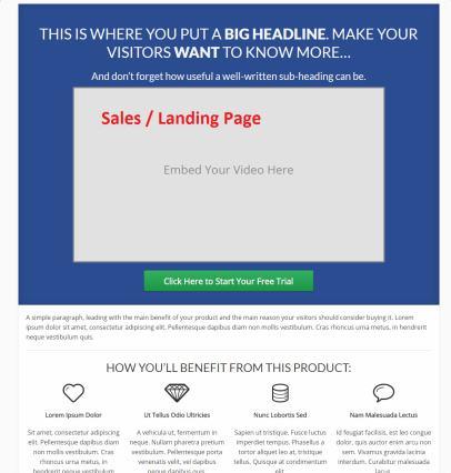 Sales Landing Pge - FocusBlog Marketing Theme