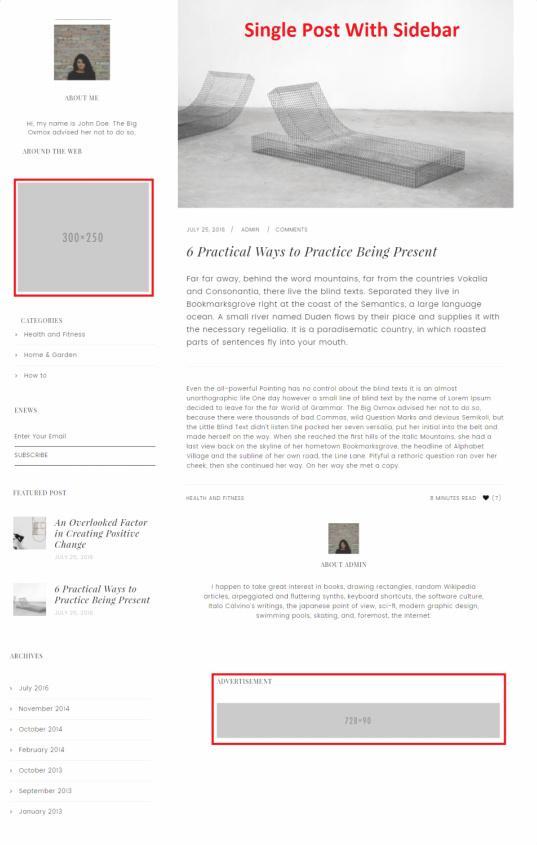 Single Post with Banners - Slush Pro Theme StudioPress