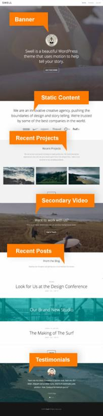 Swell Homepage Template
