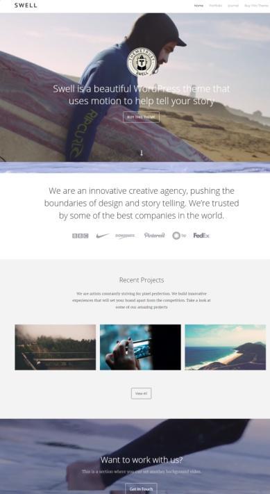 Swell ThemeTrust - WordPress Responsive Portfolio Business Theme