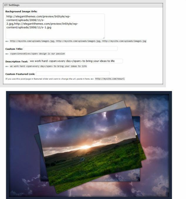 ET Settings Slider Options - InStyle
