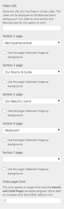 Frontpage Options - Milos